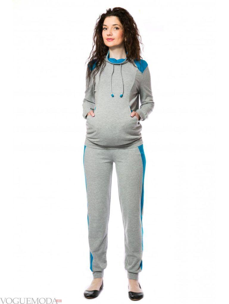 спортивный костюм для беременных светлый