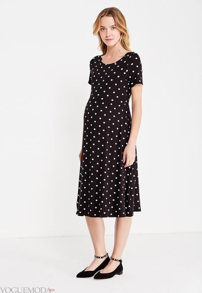 с платье в горошек для беременных
