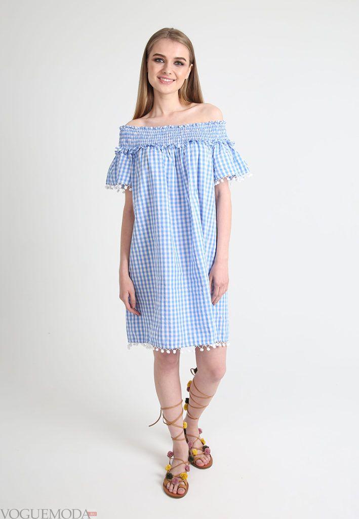 модное голубое платье для беременных