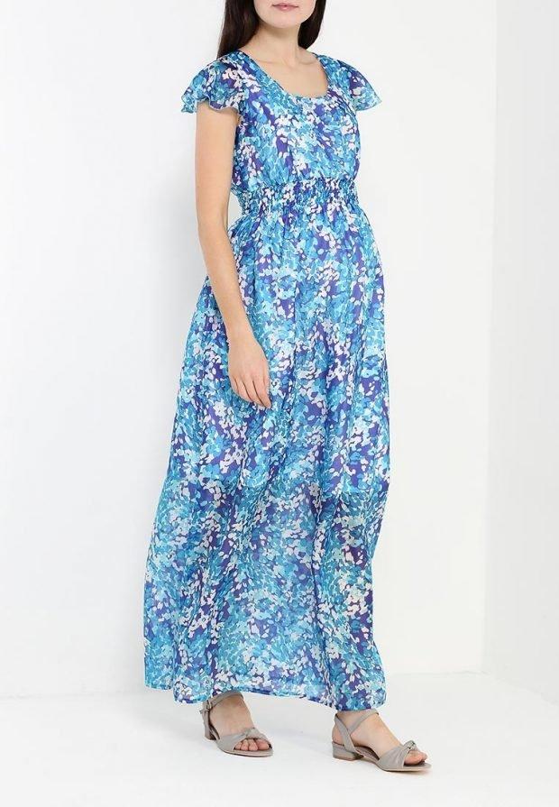повседневное платье для беременных длинное
