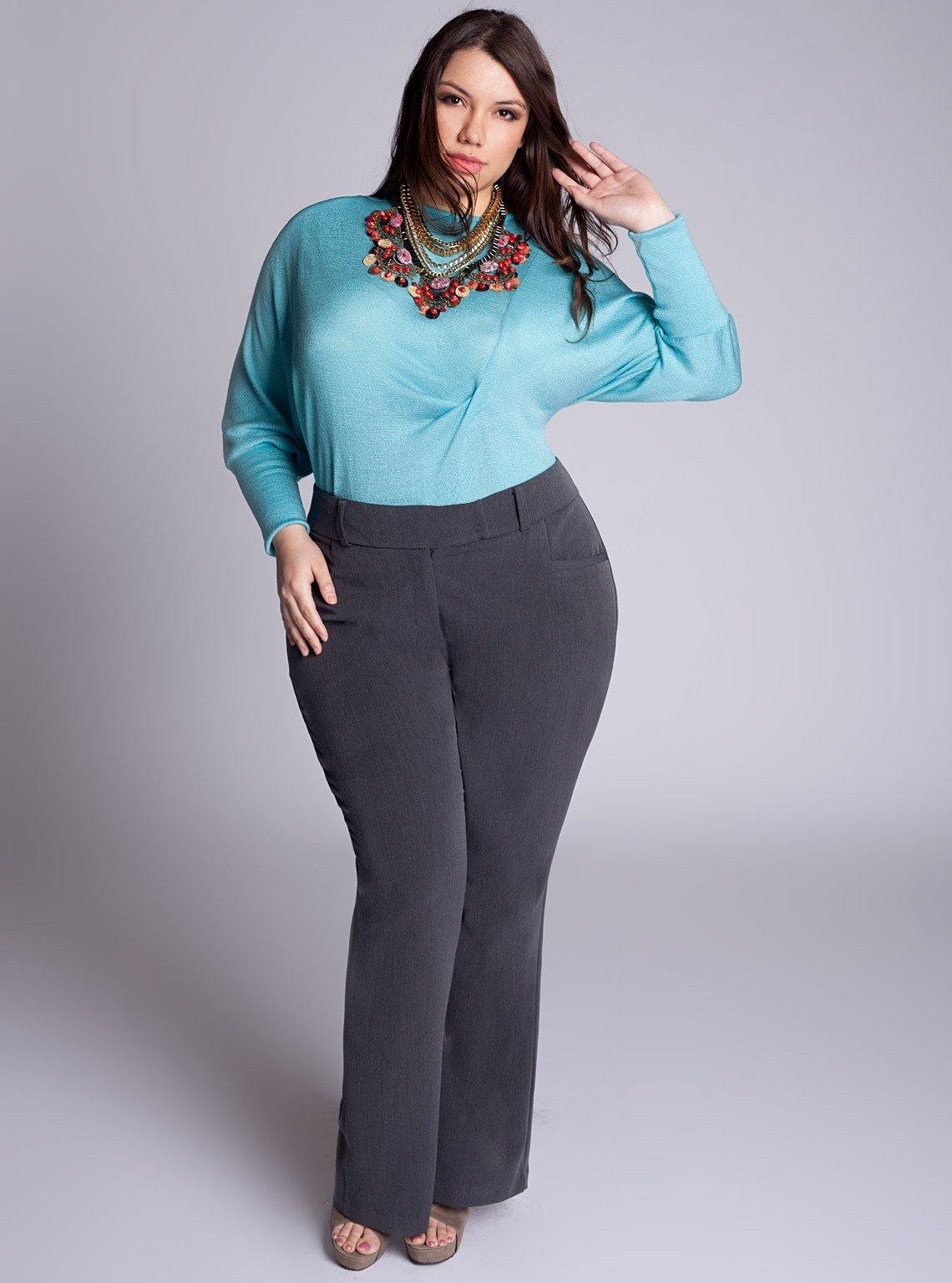 Модные брюки лето 2018 для полных женщин