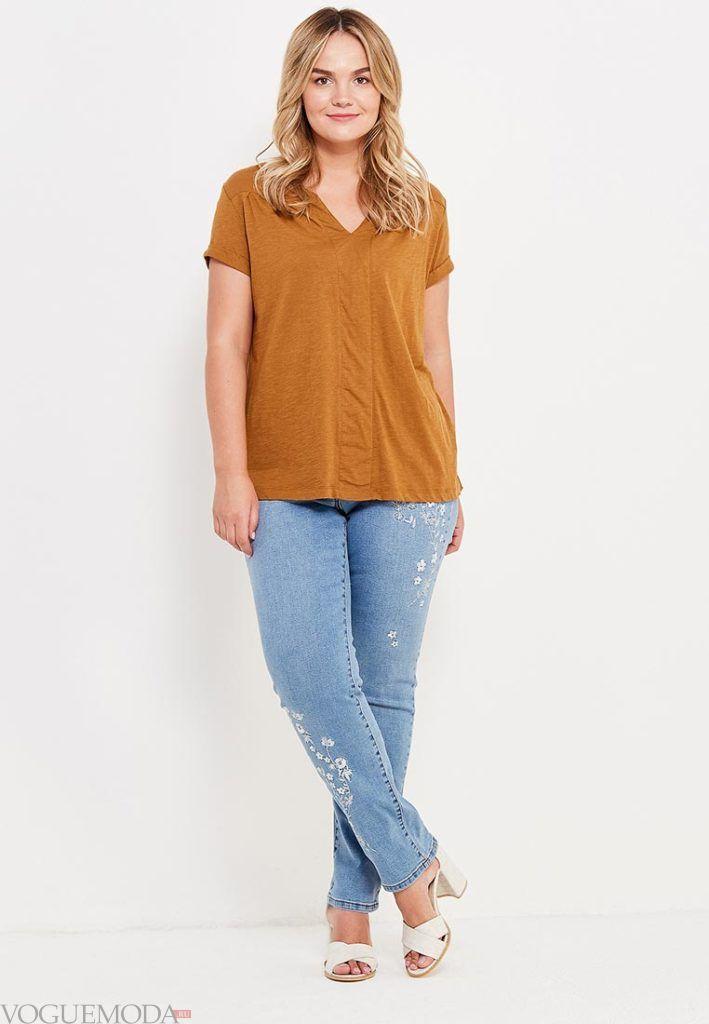 летние джинсы для полных