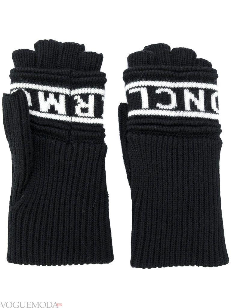 перчатки без пальцев черные