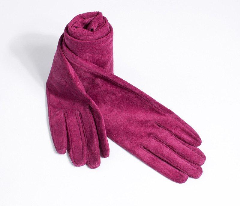 замшевые перчатки длинные