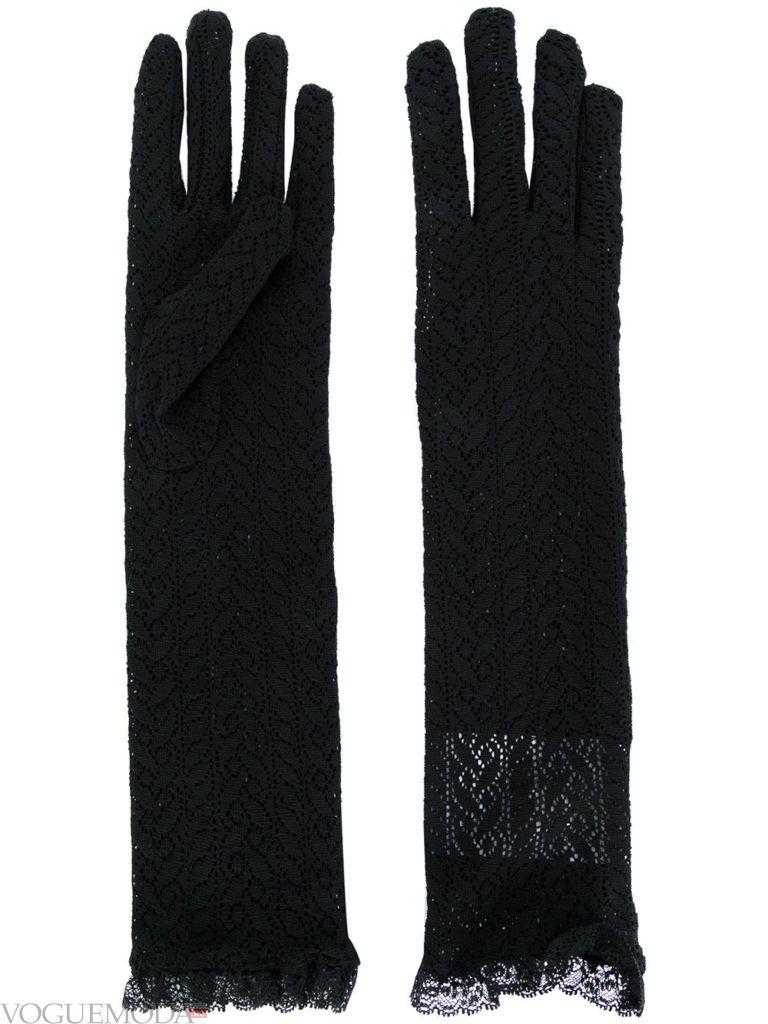 гипюровые перчатки темные