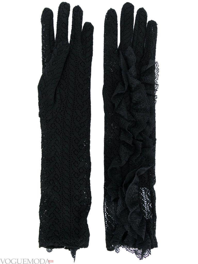 гипюровые перчатки с декором
