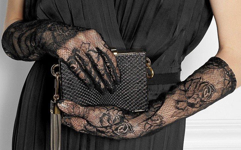 гипюровые перчатки с узором