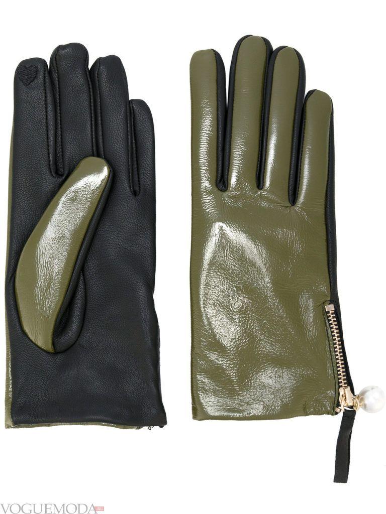 двухцветные перчатки