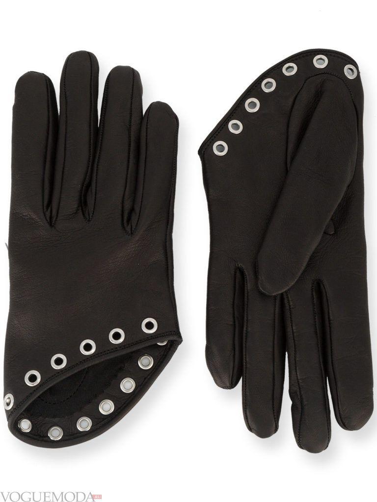 перчатки с декором