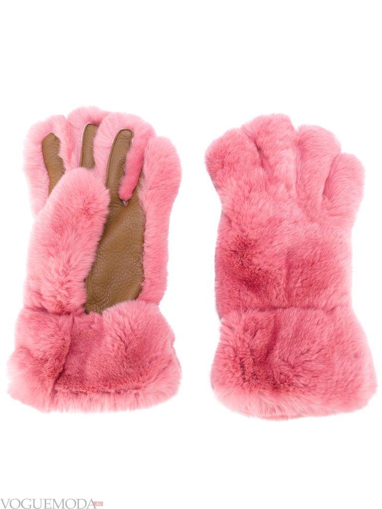 необычные перчатки меховые