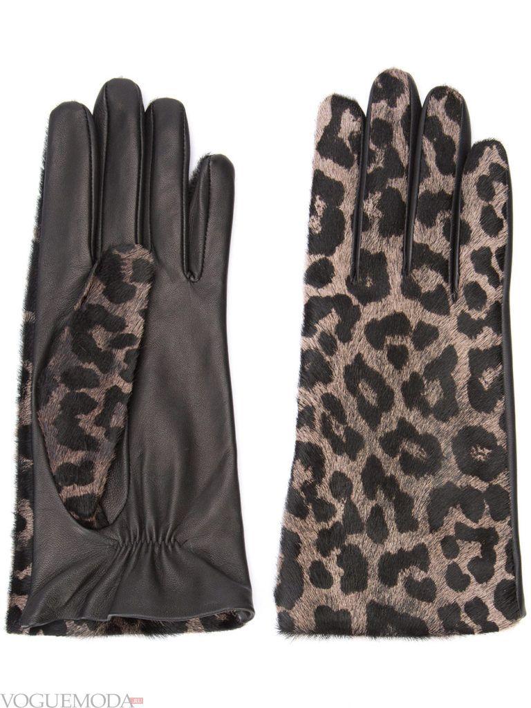 необычные перчатки леопардовые