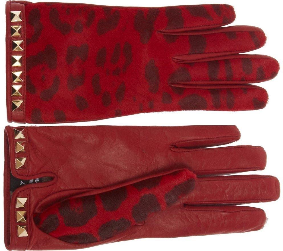 перчатки бордовые
