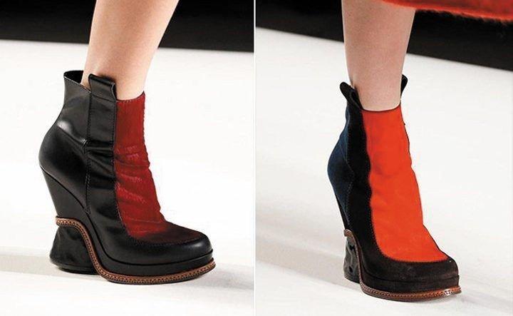 ботинки черные с красной полосой
