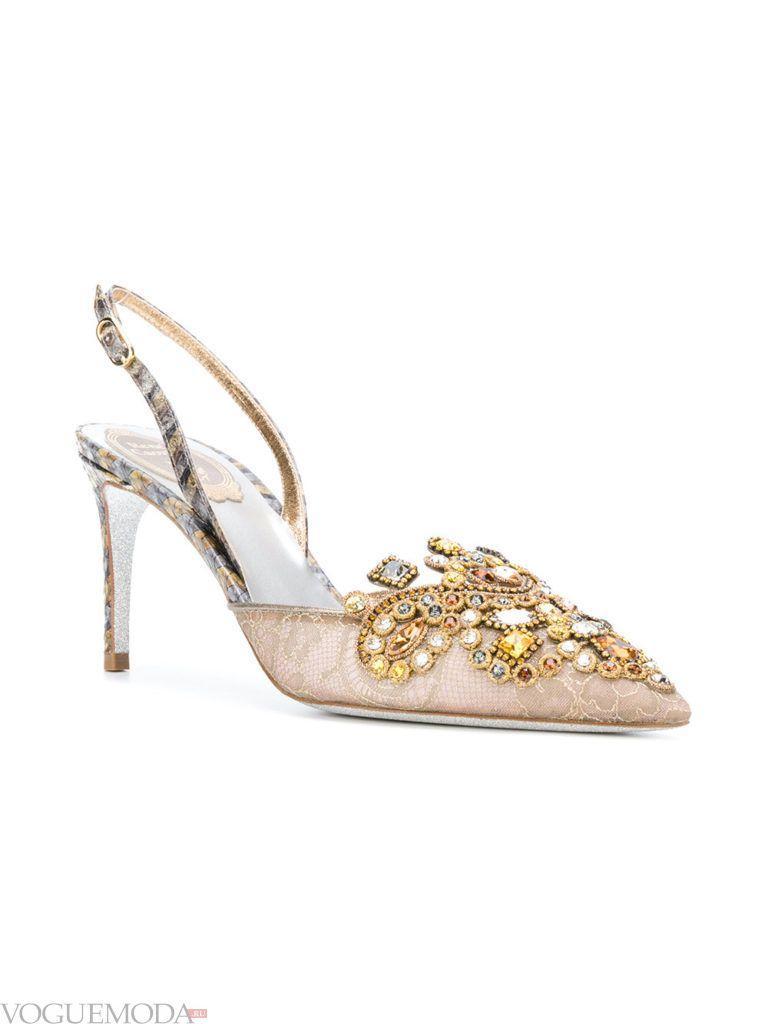 модные новогодние туфли с декором
