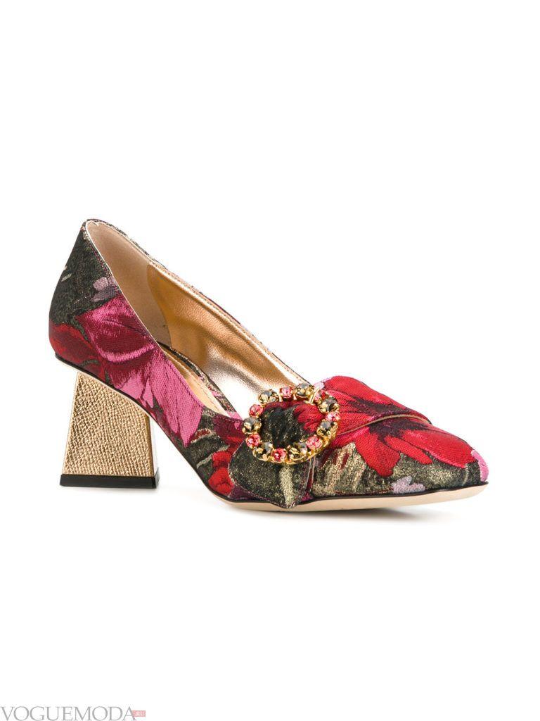 модные новогодние туфли с принтом