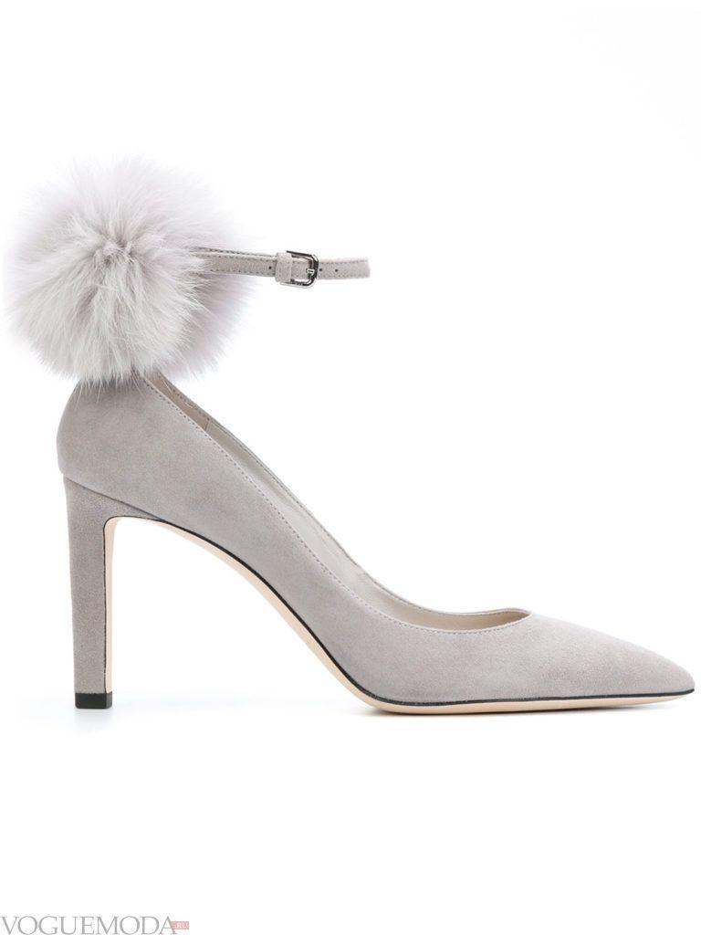 новогодние необычные туфли с мехом