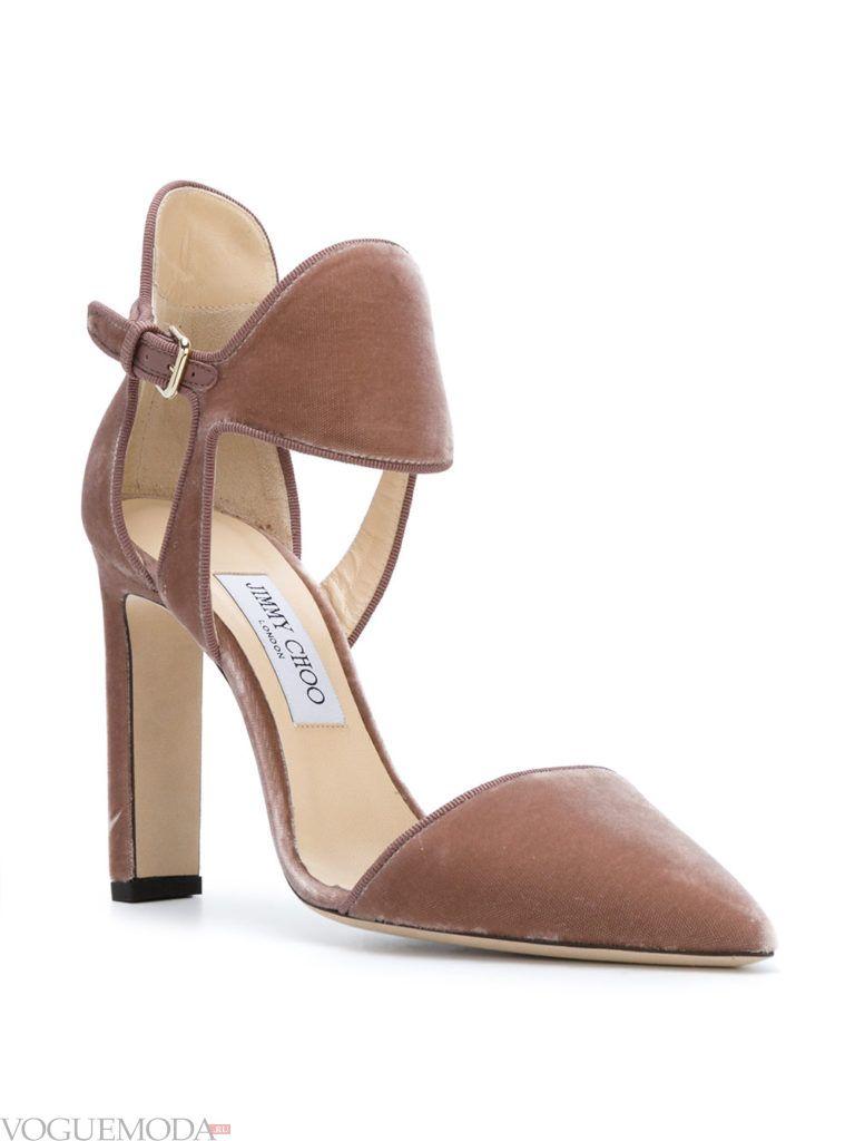 новогодние бархатные туфли светлые