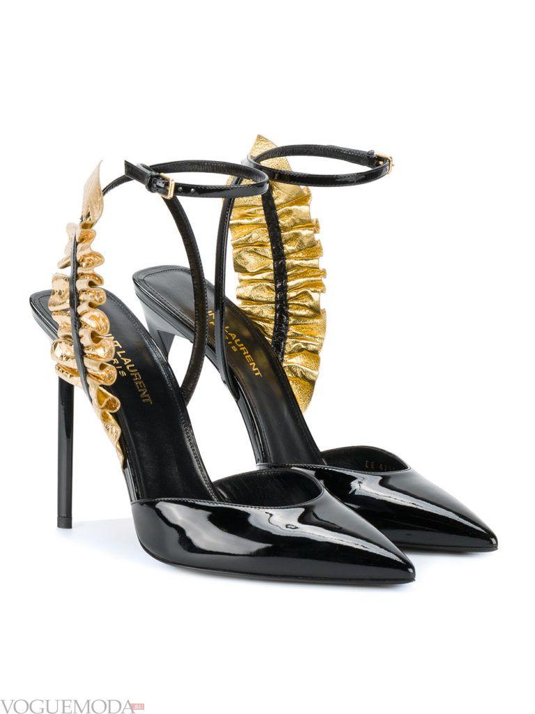модель новогодних туфель с декором