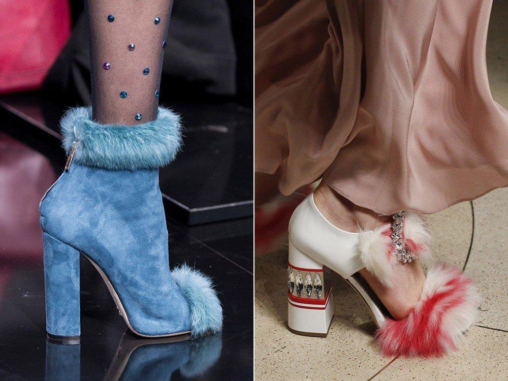 ботинки с мехом голубые