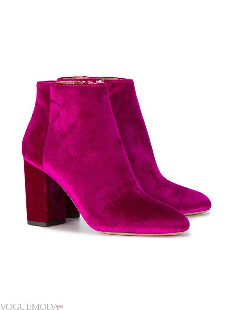 новогодние бархатные ботинки