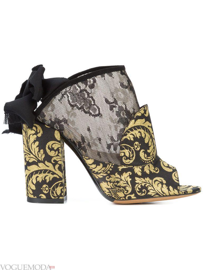 новогодние туфли двухцветные