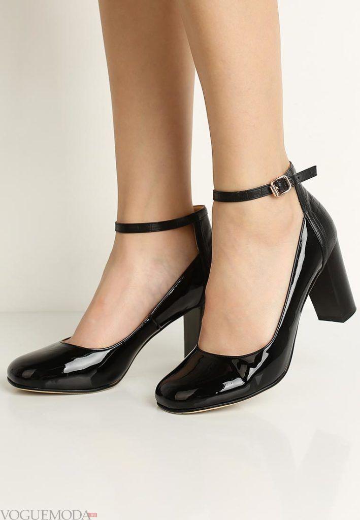 туфли с квадратным каблуком