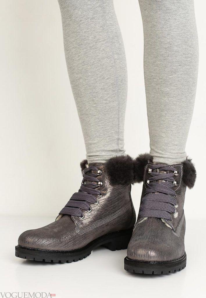 цветные ботинки с мехом