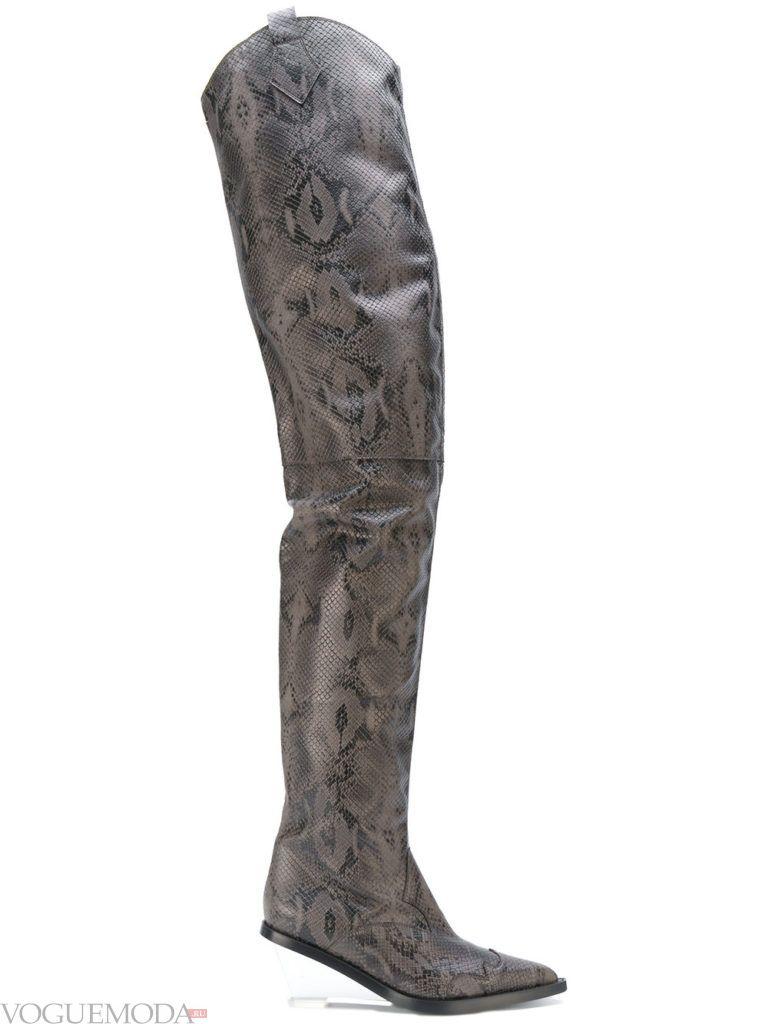 сапоги из кожы рептилий