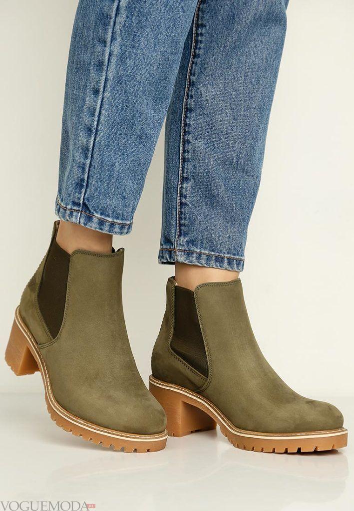 ботинки с квадратным каблуком