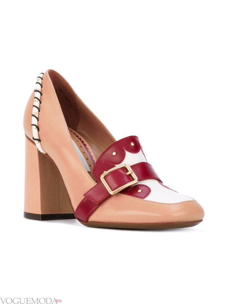туфли на каблуке нюдовые