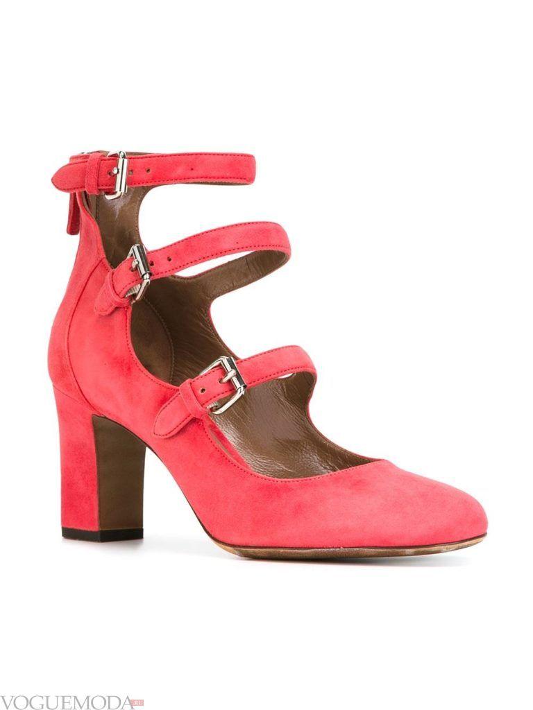 туфли на каблуке розовые