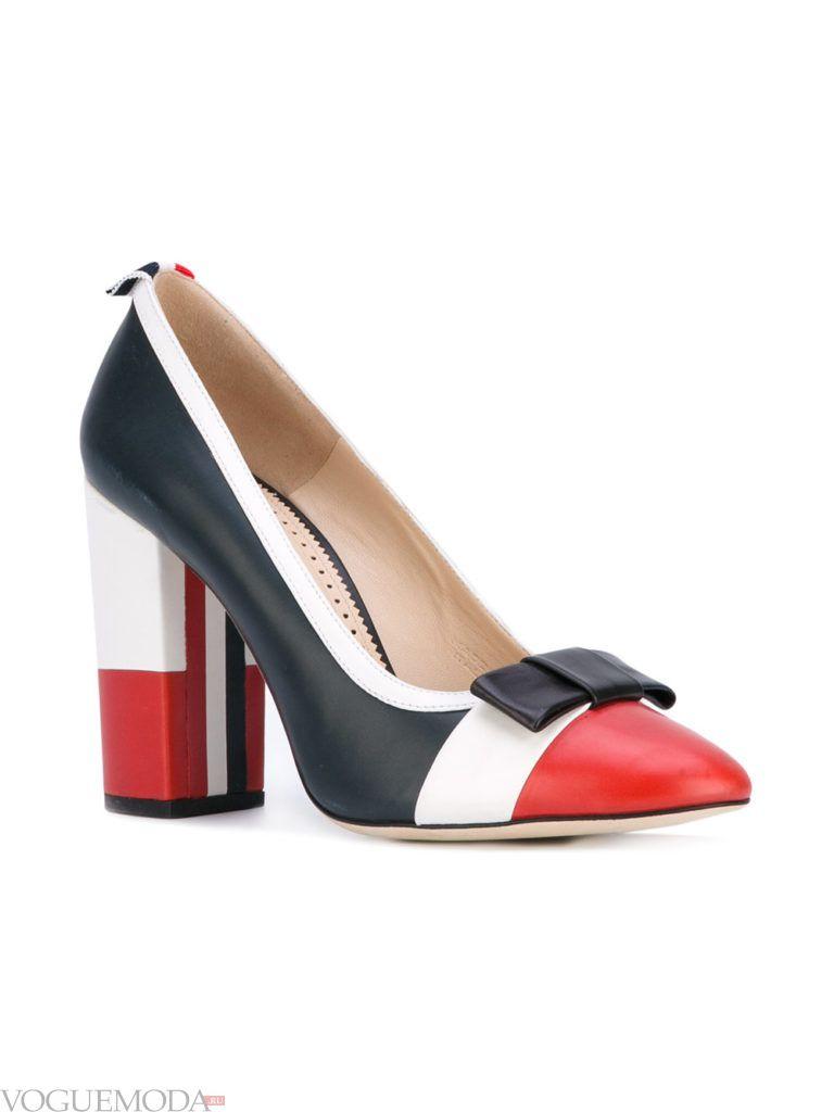 туфли на каблуке яркие