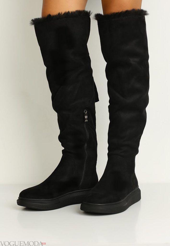 новая коллекция сапоги черные