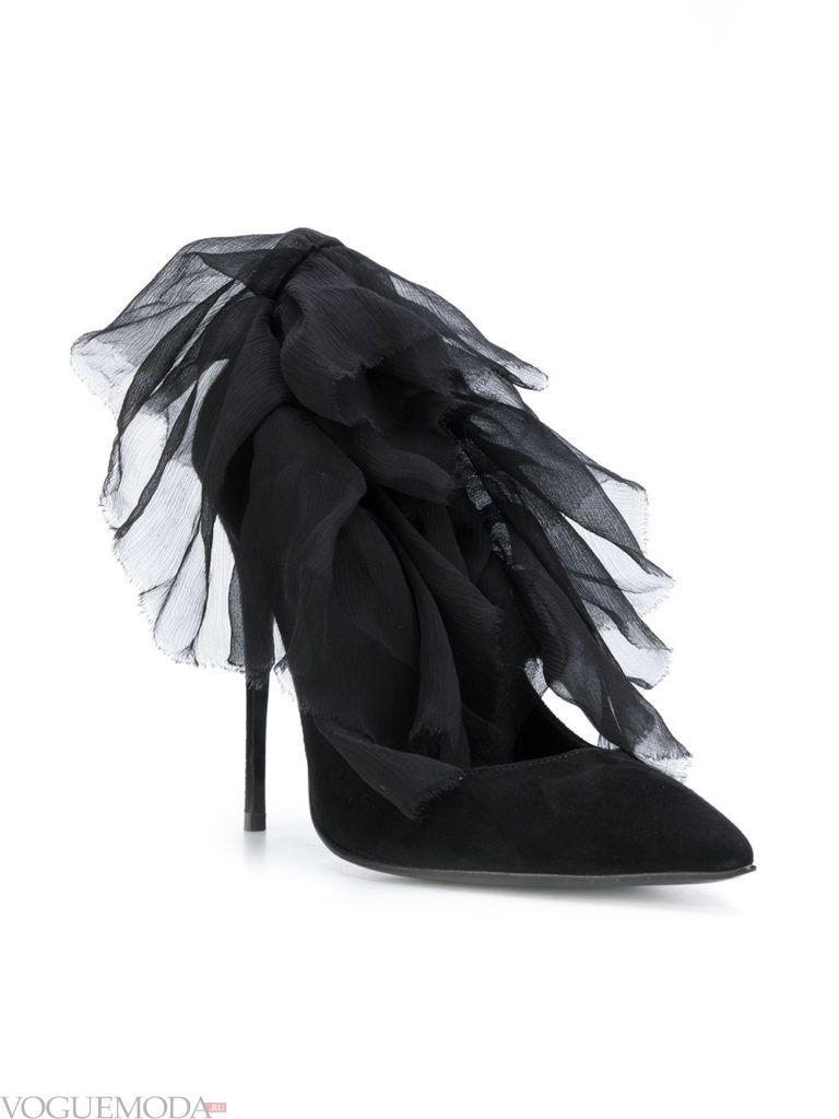 черные замшевые туфли модные