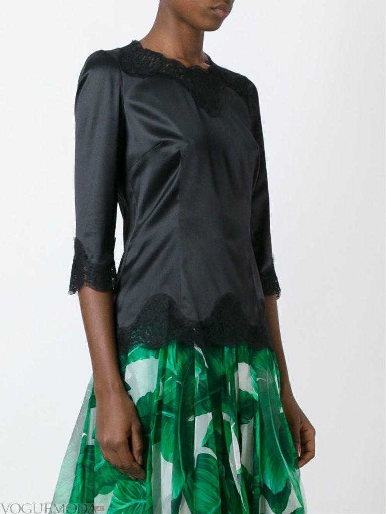 модная блузка с кружевом
