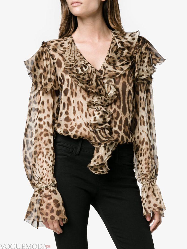 модная блузка леопардовая