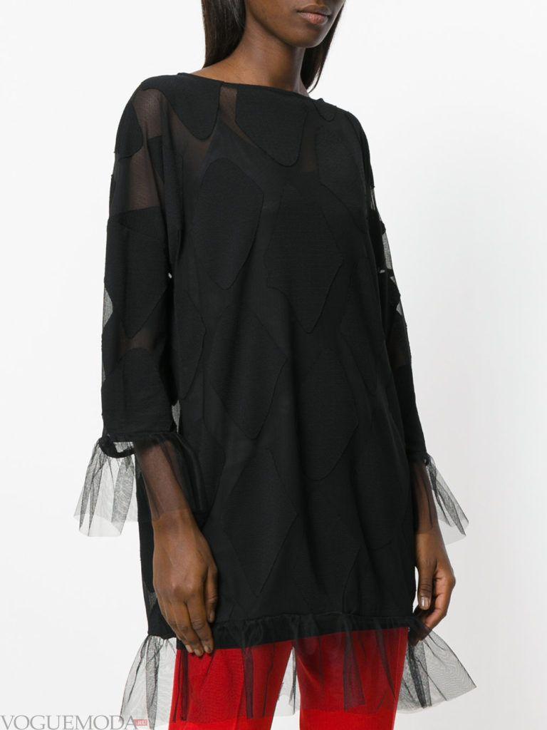 модная блузка черная