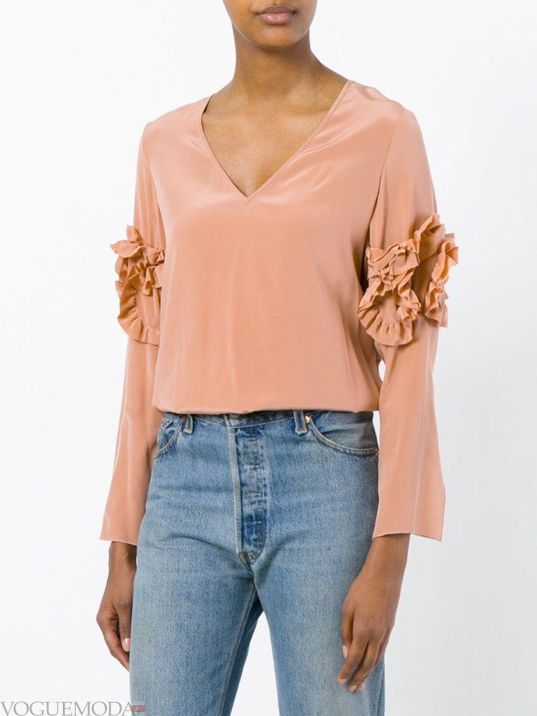 модная блузка розовая