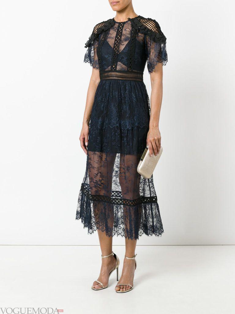 модное прозрачное платье в голливудском стиле