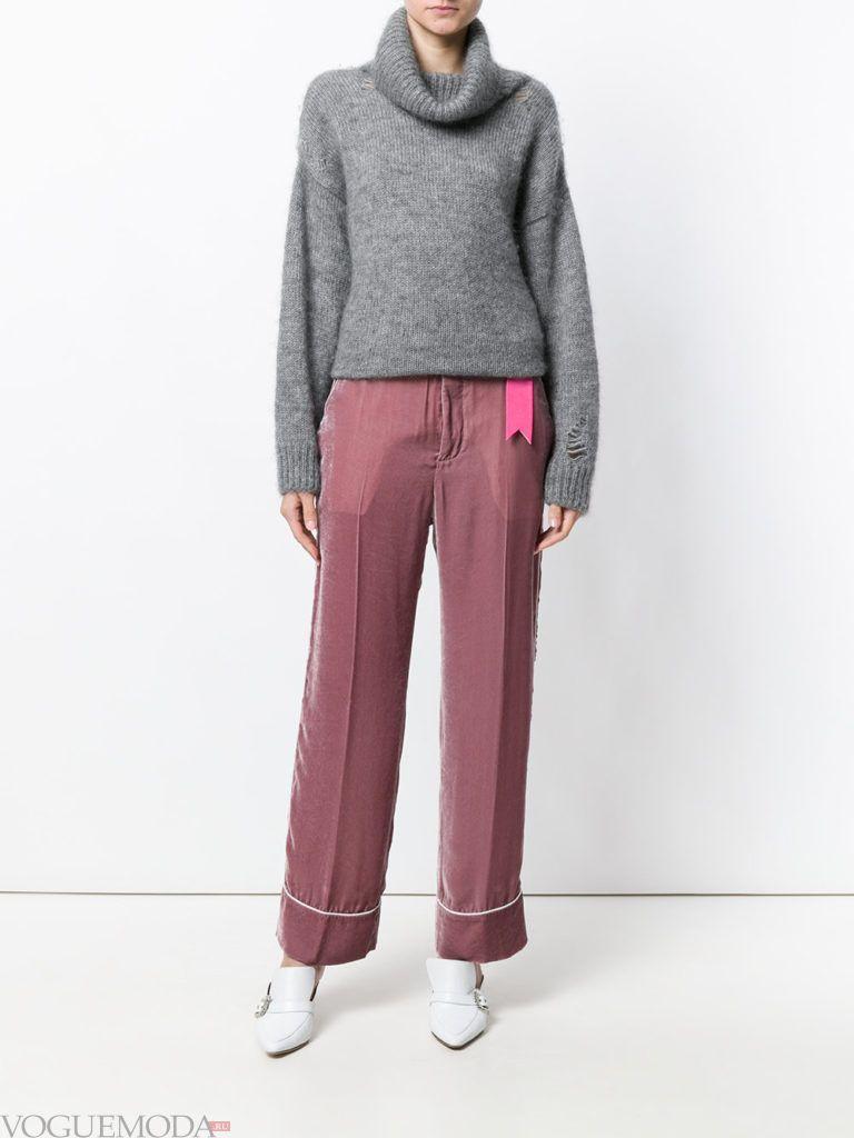 лук в повседневном стиле с брюками