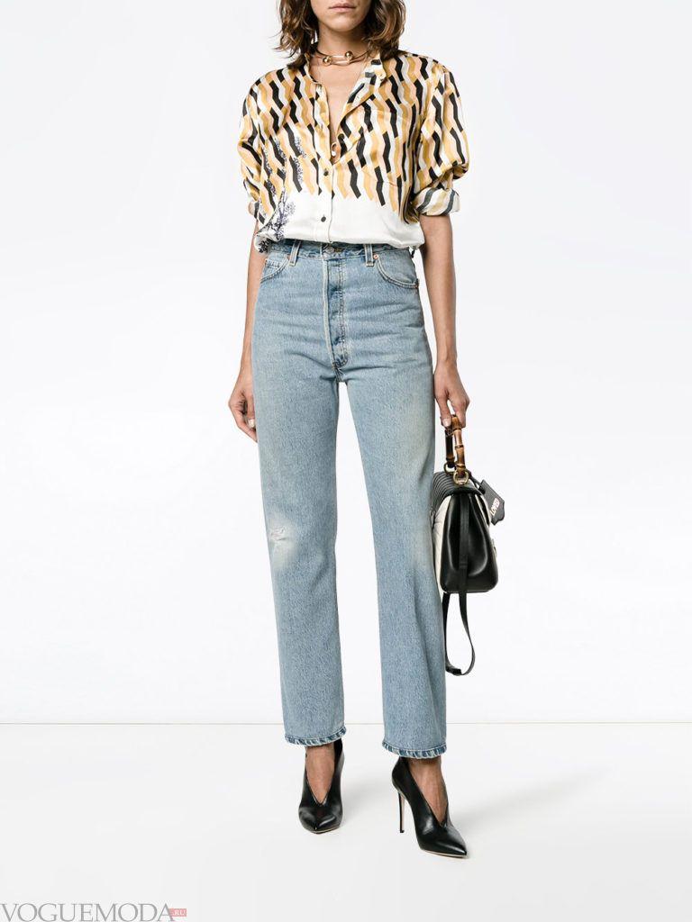 лук в повседневном стиле с джинсами