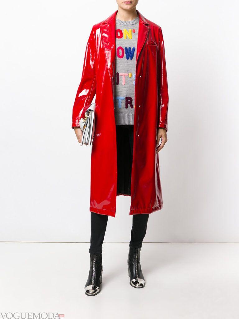 лук в повседневном стиле с пальто