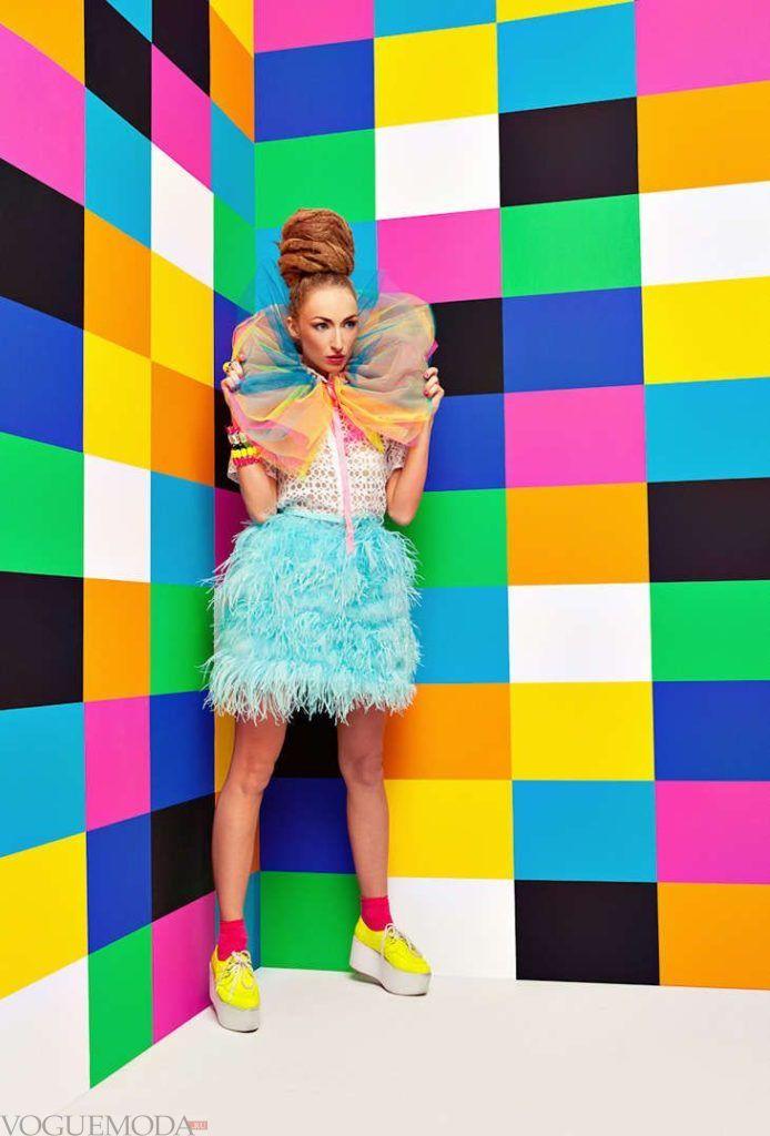 лук в стиле поп-арт цветной