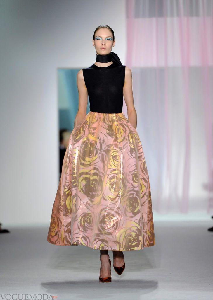лук в стиле пэчворк с платьем