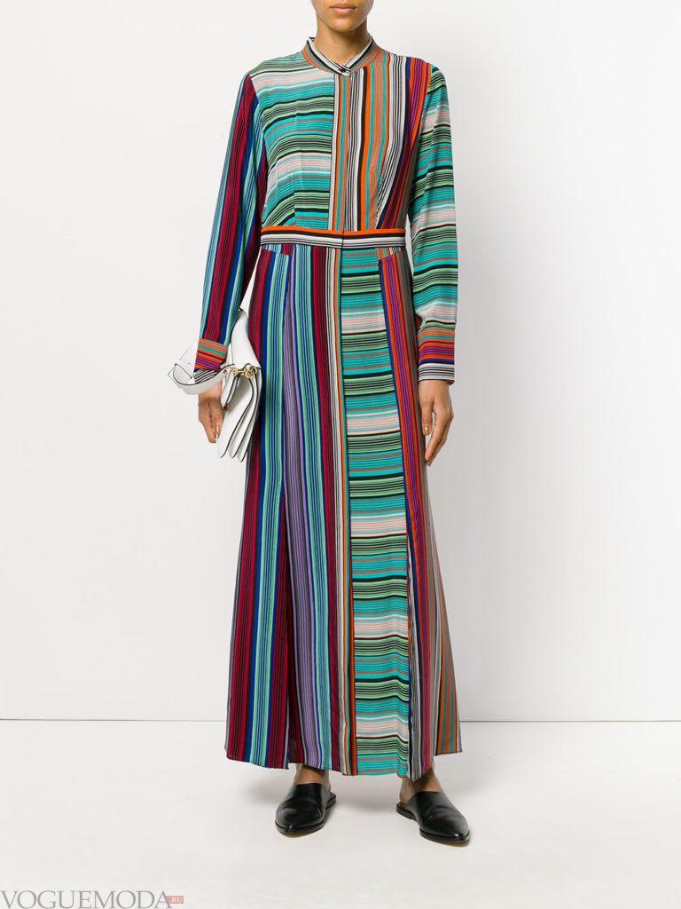 модный лук с длинным платьем