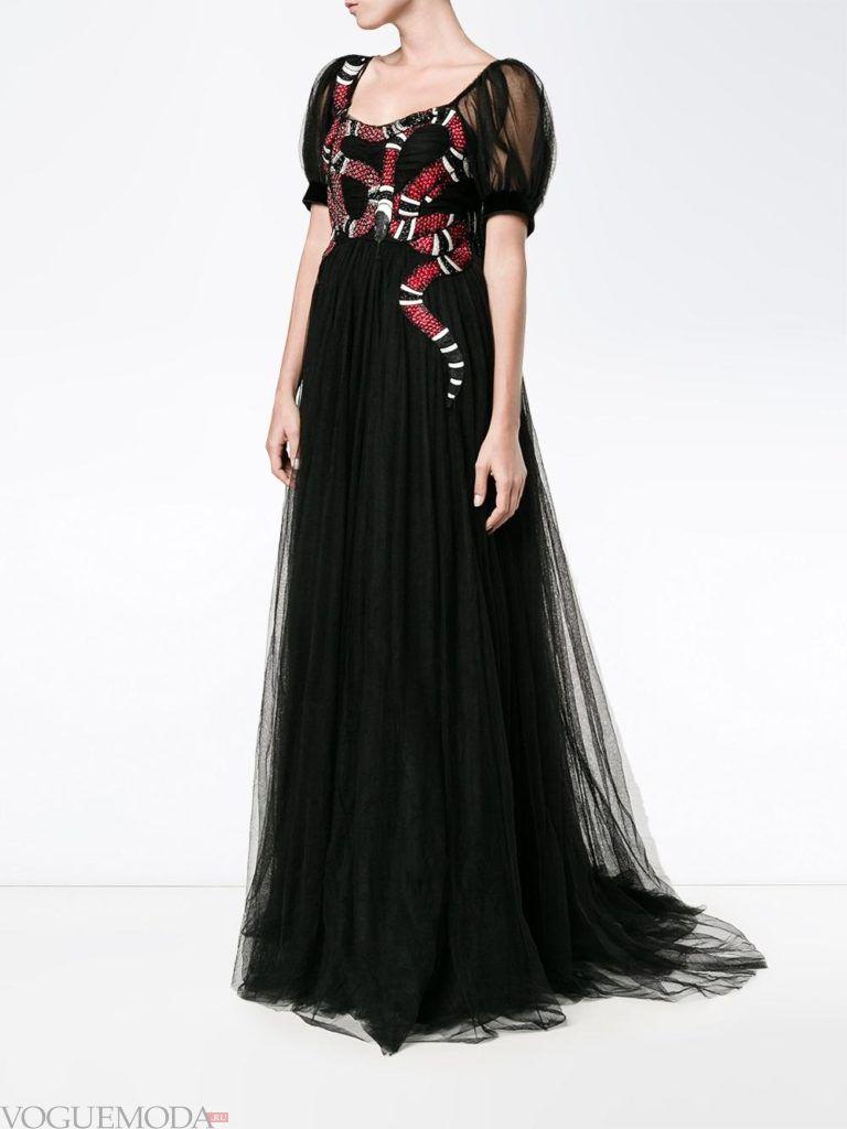 модное платье в голливудском стиле черное