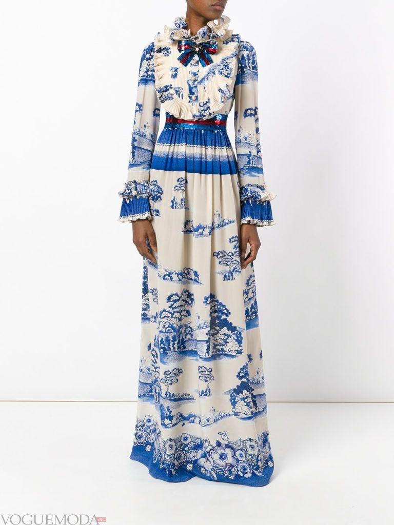 модное платье в голливудском стиле с принтом