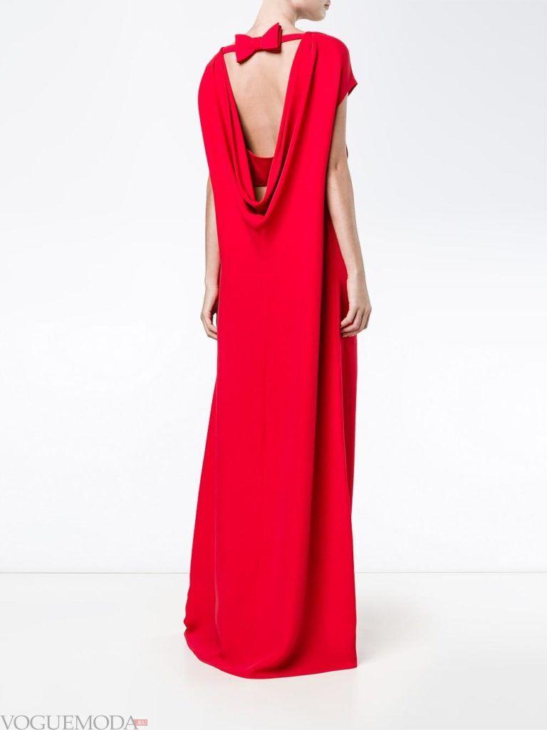 модное яркое платье в голливудском стиле