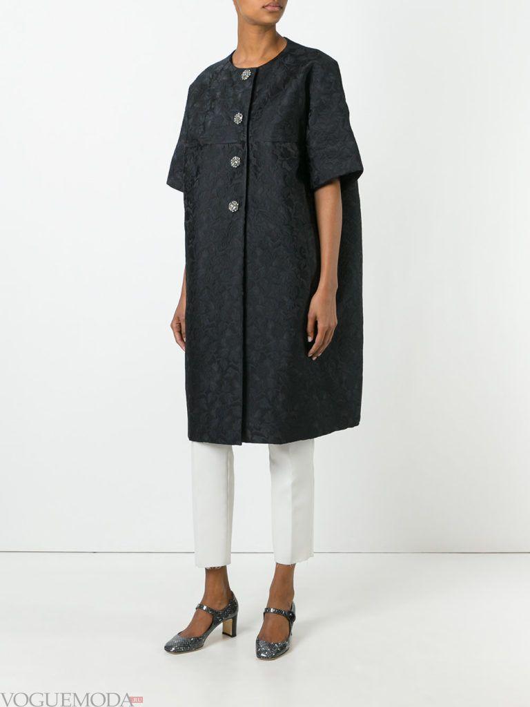 модное пальто оверсайз черное