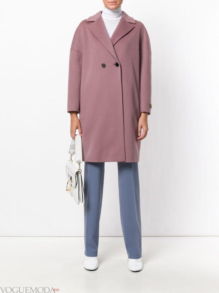 модное пальто оверсайз цветное